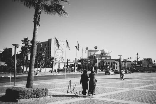 en face de la gare de Marrakech